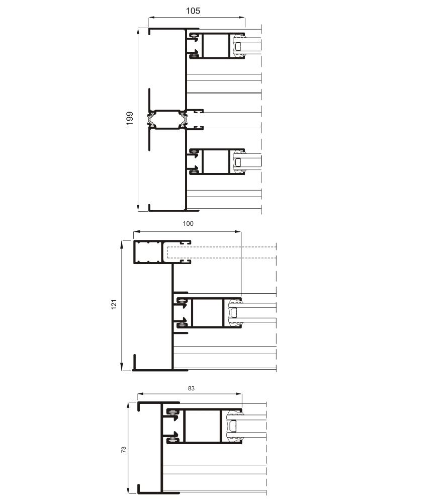 Sección del sistema 5000 Corredera doble RPT