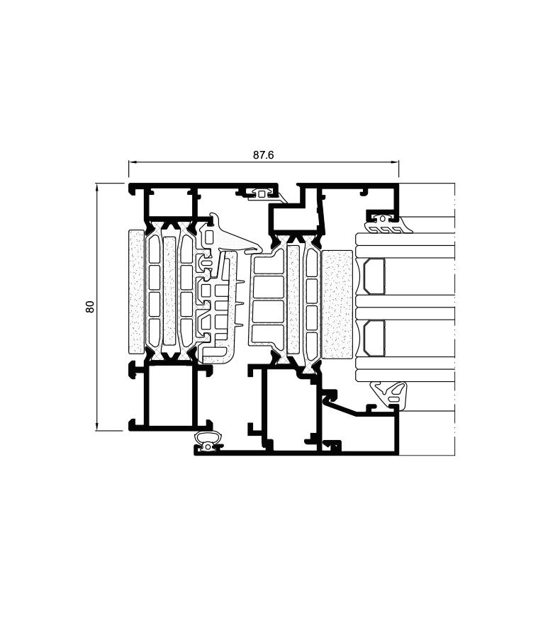 Sección del sistema Cor 80 Industrial RPT